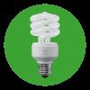 Lampe fluo compacte torsadée