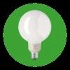 Lampe fluo compacte boule